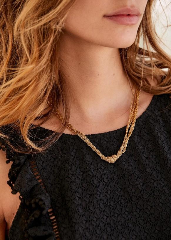 Hesse necklace \u00b7 Minimalist necklace \u00b7 Long necklace \u00b7 Stone necklace