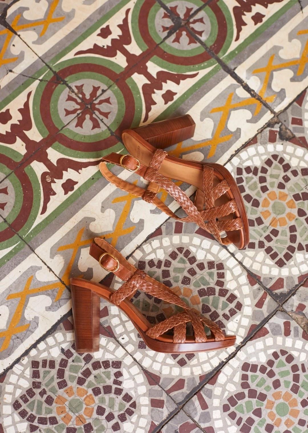 Sézane High Marius Sandals   Sezane chaussures, Sandales à