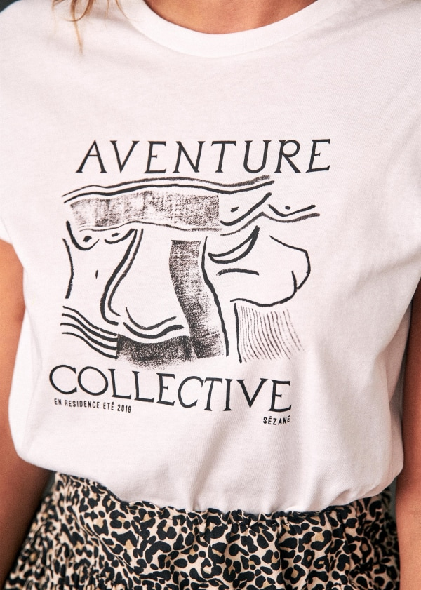 T Shirt Aventure Collective by Sézane